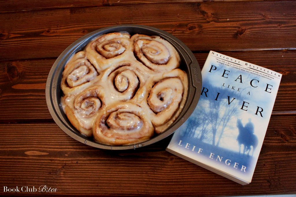 Peace Like a River Book Club Questions and Recipe Cinnamon Rolls in Pan