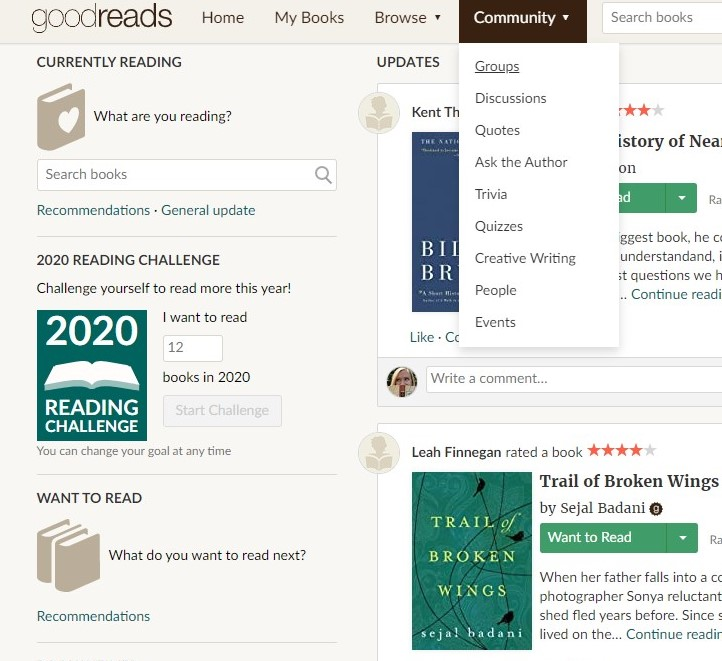 Goodreads Groups How-to