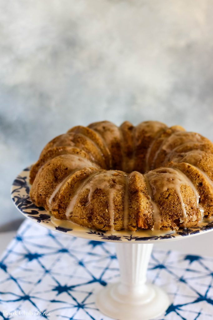 Apple Cake with Bourbon Honey Glaze