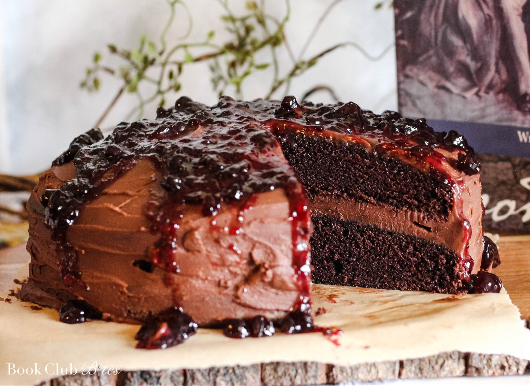 Devil's Food Cake with Blackcurrant Compote Recipe