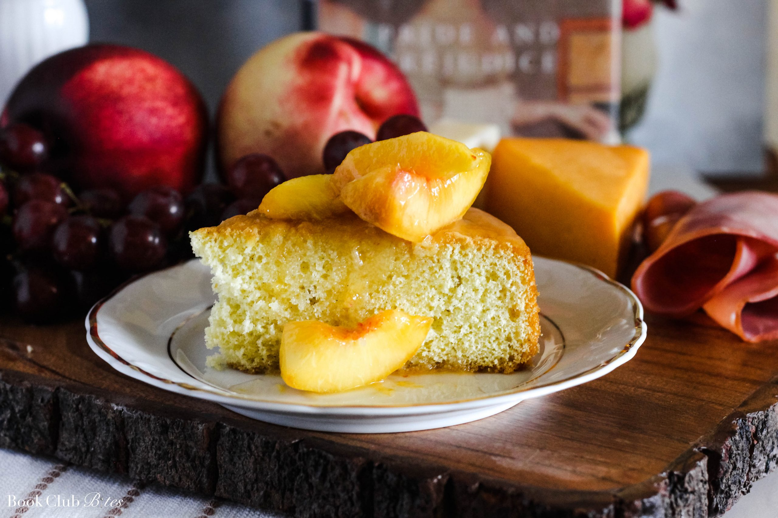 Jane Austen Sponge Cake with Peaches Recipe