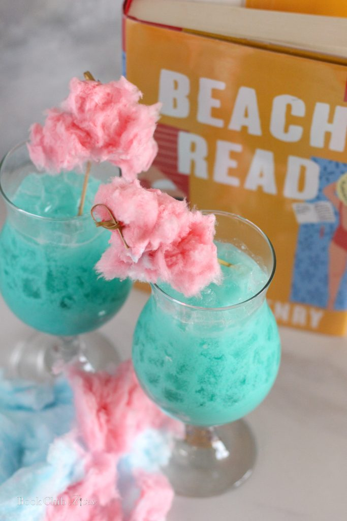 Beach Read Blue Punch Cocktail with Cotton Candy