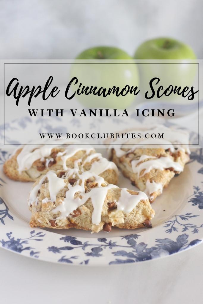 Apple Cinnamon Scones with Vanilla Icing